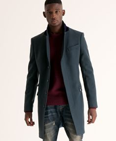 BW-Superdry Town Coat - Men's Jackets very sleek and ultra chic way to dress up a everyday casual look