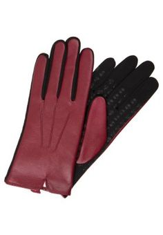 NEW YORK - Fingerhandschuh - wine New York, Casual Outfits, Gloves, Wine, News, Leather, Dark Red, Casual Clothes, New York City
