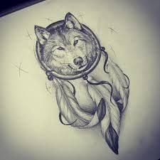 wolf feather tattoo - Google Search