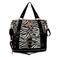 Would you buy this zebra print diaper bag? #DiaperBagBlog