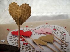 Heart Cake Topper Decorations