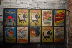 Leftover London — Old posters in disused passageway at Notting Hill...