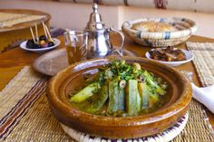 Moroccan Tagine with Zucchini and Olives..The prep work is minimal for this traditional Moroccan recipe, making it a breeze to throw together. Arrange the vegetables in conical fashion around the meat for a picture-perfect presentation  An easy, aromatic tagine recipe with zucchini and Moroccan seasoning. Carrots may be added for variety.