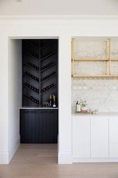 Three Birds Renovations - Bonnie's Dream Home - Bar, Wine Rack #cheaphomebardecorations