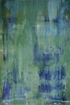 "Koen Lybaert; Oil, 2013, Painting ""abstract N° 632 [emerald green]"""