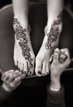 bezauberndes Henna tattoo