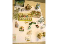 Decorations include: Hanging Chimes; wooden corral of 6 rabbits each holding a large carrot; 6 magnets; 2-3 1/2