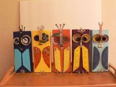 diy scrap wood block garden figures - Google Search