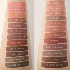 """965 Likes, 50 Comments - The Lipstick Diaries (@the_lipstickdiaries) on Instagram: """"Swatches of the entire @nyxcosmetics Lip Lingerie line, the new shades are on the left and the…"""""""