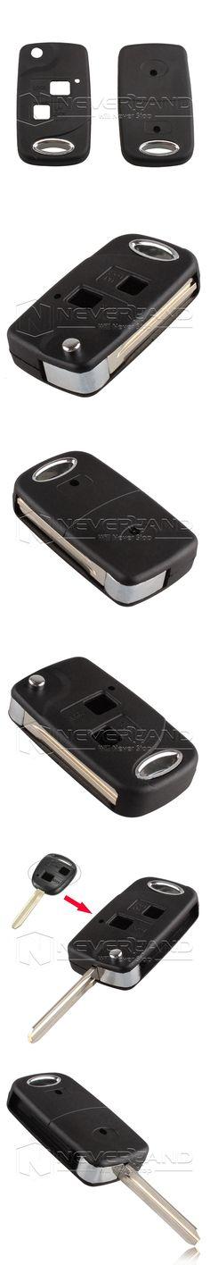 Folding Flip 2 Button Remote Key Shell For Toyota RAV4 Avalon Echo Prado Tarago Camry Corolla Tarago TOY43 Fob Case