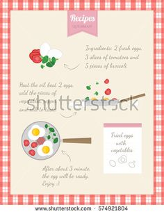 Home Cooking Recipe. Cooking fried eggs, step by step instructions, ingredients
