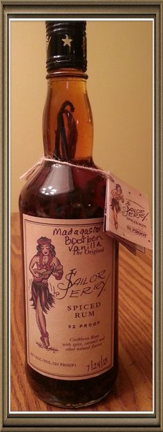 Homemade vanilla extract with spiced rum