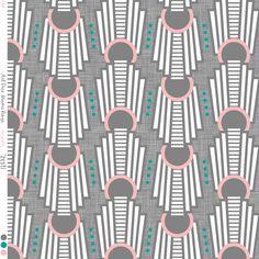 Art Deco Rings Miami Dark custom fabric by zesti for sale on Spoonflower Textile Patterns, Print Patterns, Textiles, Miami Art Deco, Art Deco Wallpaper, Design Repeats, Art Deco Ring, Fabric Art, Grey Fabric
