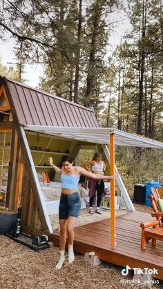 Rest House, Tiny House Cabin, House In The Woods, A Frame Cabin, A Frame House, Cabins And Cottages, Small House Design, Play Houses, My Dream Home