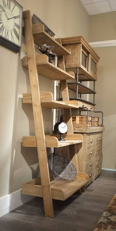 reclaimed lean to oak shelf unit by cambrewood | notonthehighstreet.com