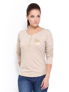 Buy Roadster Women Beige Top - 310 - Apparel for Women from Roadster at Rs. 809
