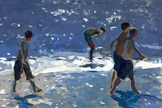 """bofransson: """" At the Water's Edge Andrew Tozer """" Art Gallery, Drawing Artist, Figure Painting, Drawings, Painting, Illustration Art, Art, Beach Art, Figurative Art"""