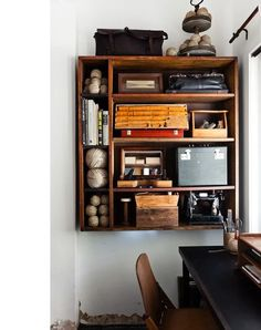 Bookcase on the wall