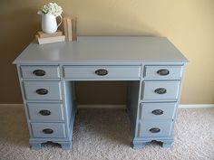 I have the same desk still in mahogany.  Hmmmm.....