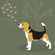 beagle illustration - Google Search Beagle Art, Beagle Puppy, Beagle Tattoo, Harry Potter Cartoon, Puppies And Kitties, Dog Crafts, Bow Wow, Dog Illustration, Cute Backgrounds