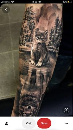 Wolf tattoo Meaning and various Types to get inspired Tattoos . - Wolf Tattoo Meaning and Various Types to Get Inspired Tattoos – diy best tattoo id - Wolf Sleeve, Wolf Tattoo Sleeve, Forearm Sleeve Tattoos, Best Sleeve Tattoos, Sleeve Tattoos For Women, Tattoo Sleeve Designs, Tattoo Designs Men, Tattoos For Guys, Forest Tattoo Sleeve