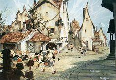 "Gustaf Adolf Tenggren (November 3, 1896 – April 9, 1970) - from ""Pinocchio"" (1940)"