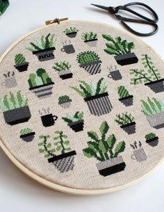 Botany Cross Stitch Kit – The Sill Cactus Cross Stitch, Small Cross Stitch, Cross Stitch Art, Cross Stitching, Cross Stitch Embroidery, Embroidery Patterns, Blackwork Cross Stitch, Cross Stitch Beginner, Cross Stitch Borders