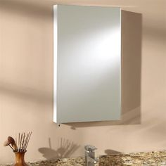 Dustin Stainless Steel Recessed Medicine Cabinet - White Powder Coat