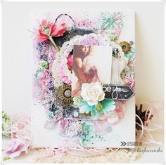 "My Craft World: ""Be You""- Mixed media canvas with Video tutorial"