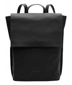 !!!Überschlagrucksack Quince Backpack L Harris Liebeskind schwarz Business Look, Business Fashion, Embossed Logo, Smooth Leather, Timeless Design, Leather Backpack, Shoulder Strap, Backpacks, Material