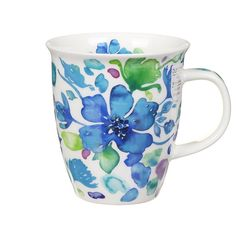 Dunoon Firenze Blue Nevis Shape Mug   Temptation Gifts