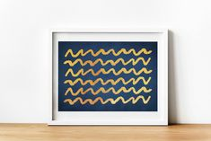 Instant download Gold Wall Art, Abstract Lines, Last Minute Gifts, Modern Wall Art, Poster Wall, Blue Backgrounds, Artwork Prints, Printing Services, Printable Wall Art