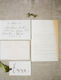 Calligraphy Rehearsal Dinner Invitations by Laura Catherine via Oh So Beautiful Paper (8)