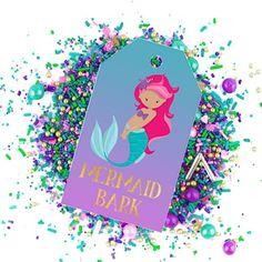 Mermaid Bark Recipe and Printable Treat Tag Mermaid Names, Baby Mermaid, Mermaid Birthday, Mermaid Party Games, Mermaid Parties, Fish Crafts, Cute Crafts, Party Printables, Free Printables