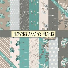 Floral digital paper @creativework247