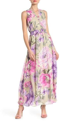 Perfect Jersey Printed Maxi Dress with Shrug XS NAVY Patriotic Color Denim /& Co