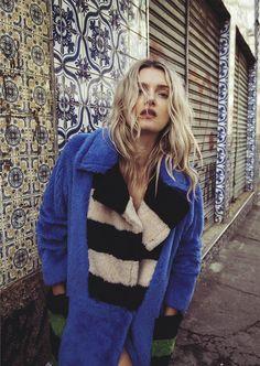 """New Wave"" Lily Donaldson in #maxmara for Vogue Australia September 2016"
