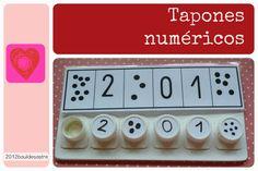 Juego de tapones brick para número y cantidad
