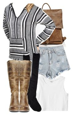 """""""Malia Inspired Outfit with a Baja Hoodie"""" by veterization ❤ liked on Polyvore featuring moda, Wet Seal, Steve Madden, Monki y Express"""
