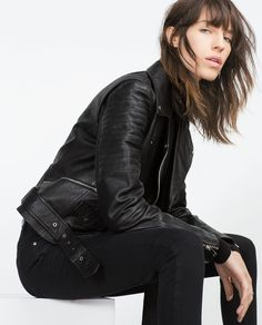Image 3 of LEATHER JACKET from Zara