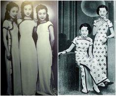 30's chinese qipao - bridesmaid dresses? LOL