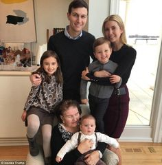 Ivanka Trump posed with her husband Jared, their three children Arabella, Joseph and Theodore, and her maternal grandmother Marie Zelnickova for a Thanksgiving portrait