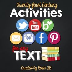 21st Century Activities for Any Text. Geared toward older students.