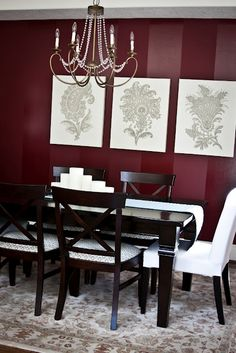 1000 ideas about burgundy walls on pinterest burgundy for Burgundy dining room ideas