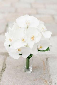 White Phalaenopsis Orchid Bouquet - Wedding Inspirations