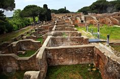 Italy - Ancient Roman Ruins Ostia Antica. This is an amazing place. It was the original city of Rome before it was moved to the current site. It was only occupied between 400-200 BC