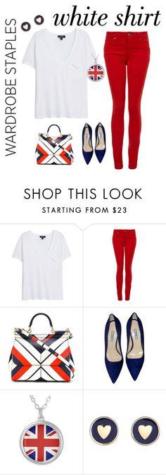 """Untitled #1081"" by shemomjojo ❤ liked on Polyvore featuring MANGO, Paige Denim, Dolce&Gabbana, Prada, Brooks Brothers and WardrobeStaples"