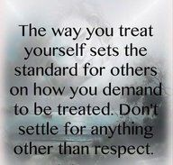 therefore be nice to others if you want them to treat you with respect also.