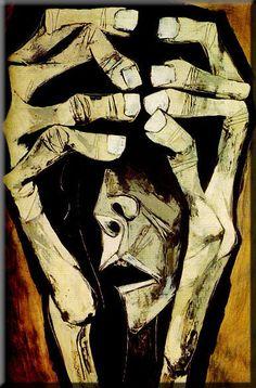 Guayasamin reproduction Fear Scream Hands Modern by EcuadorsArt, $135.00