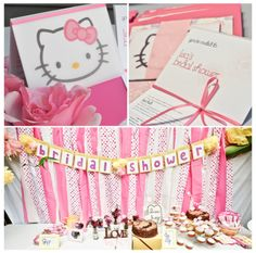 What could be cuter than a Hello Kitty bridal shower?